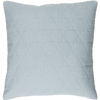 Reda Pillow Cover Size: 20 H x 20 W x 1 D, Color: Silver Gray