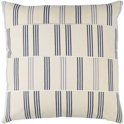 Lina Cotton Pillow Cover Size: 20 H x 20 W x 1 D, Color: Beige / Charcoal