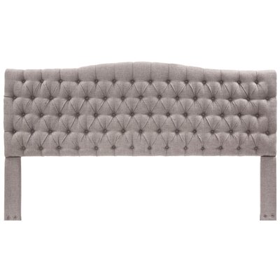 Upholstered Panel Headboard Upholstery: Brown, Size: Queen