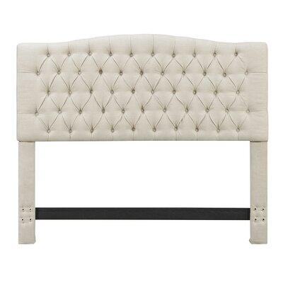 Upholstered Panel Headboard Upholstery: Beige, Size: Queen