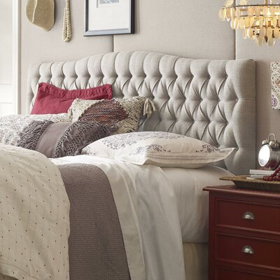 Upholstered Panel Headboard Size: Queen, Upholstery: Beige