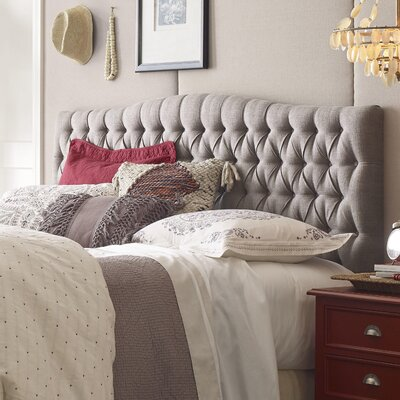Upholstered Panel Headboard Size: King, Upholstery: Brown