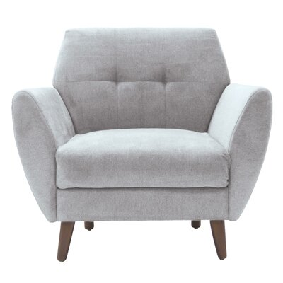 Amelie Mid-Century Modern Armchair Upholstery: Light Gray