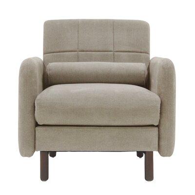 Natalie Mid-Century Modern Arm Chair Upholstery: Beige