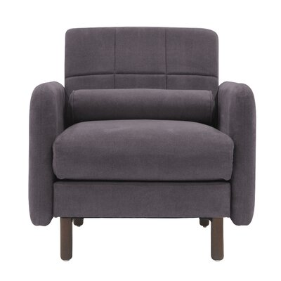 Natalie Mid-Century Modern Armchair Upholstery: Dark Gray