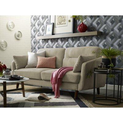 Chloe Mid-Century Modern Loveseat Upholstery: Beige