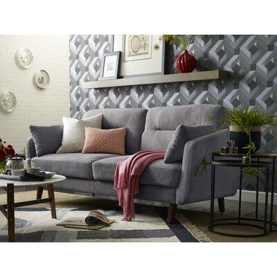 Chloe Mid-Century Modern Sofa Upholstery: Dark Gray