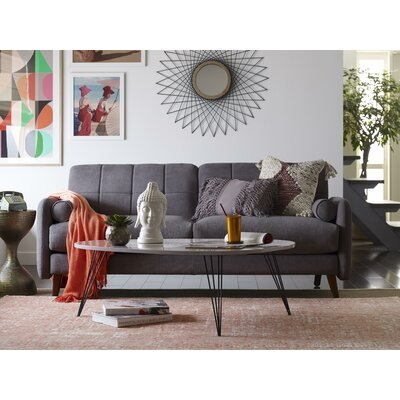Natalie Mid-Century Modern Sofa Upholstery: Dark Gray