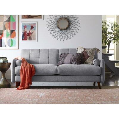 Natalie Mid-Century Modern Loveseat Upholstery: Light Gray
