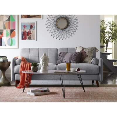 Natalie Mid-Century Modern Sofa Upholstery: Light Gray