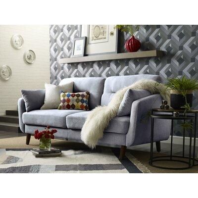 Chloe Mid-Century Modern Sofa Upholstery: Light Gray