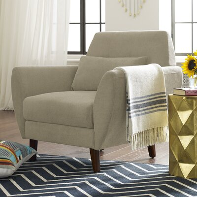 Amelie Mid-Century Modern Armchair Upholstery: Beige
