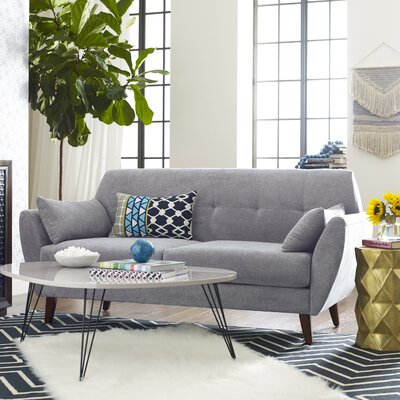Amelie Mid-Century Modern Loveseat Upholstery: Light Gray