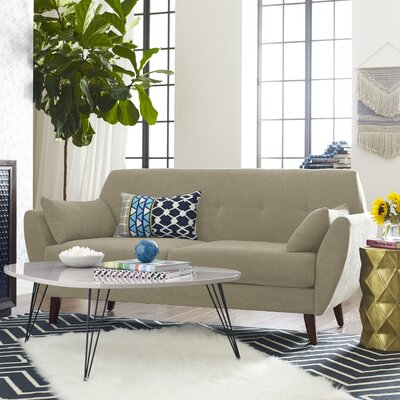 Amelie Mid-Century Modern Sofa Upholstery: Beige