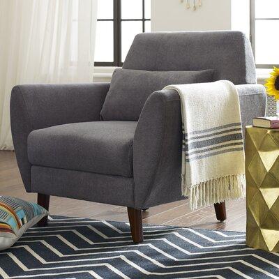 Amelie Mid-Century Modern Armchair Upholstery: Dark Gray