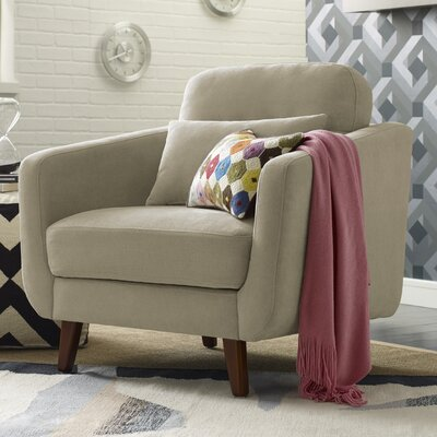 Chloe Mid-Century Modern Armchair Upholstery: Beige