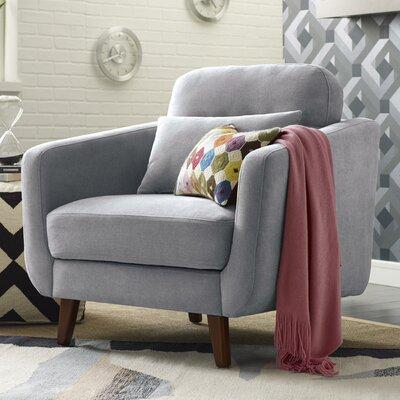 Chloe Mid-Century Modern Armchair Upholstery: Light Gray