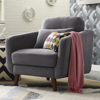 Chloe Mid-Century Modern Armchair Upholstery: Dark Gray