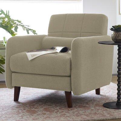 Natalie Mid-Century Modern Armchair Upholstery: Beige