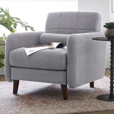Natalie Mid-Century Modern Armchair Upholstery: Light Gray