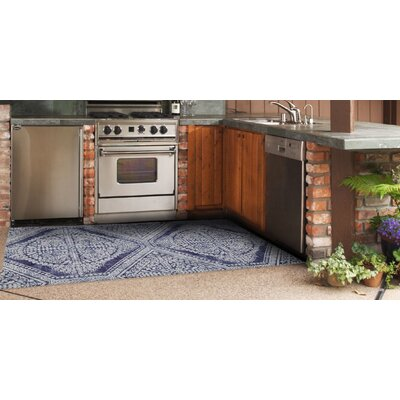 Brush Strokes Navy Blue Indoor/Outdoor Area Rug Rug Size: 311 x 510