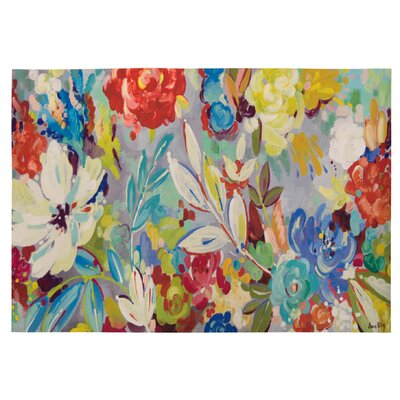Brush Strokes Floral Indoor/Outdoor Area Rug Rug Size: 24 X 39