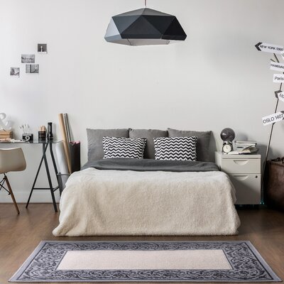 Lyncrest Gray/Black Area Rug