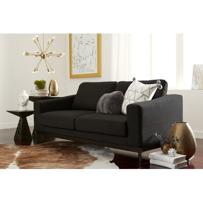 Olivia Loveseat Upholstery : Charcoal