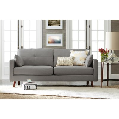 Alix Sofa Upholstery: Silver