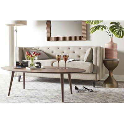 Celeste Tufted Sofa Upholstery: Ivory