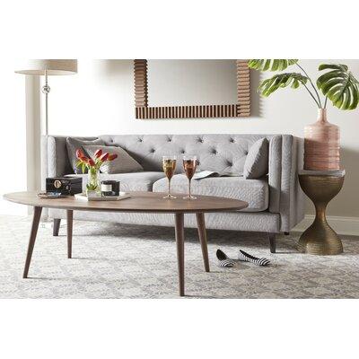 Celeste Tufted Sofa Upholstery: Pearl