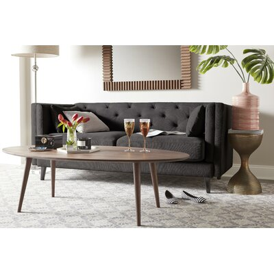 Celeste Tufted Sofa Upholstery: Gray