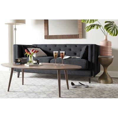 Celeste Tufted Sofa Upholstery: Cobalt