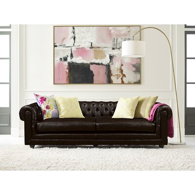 Amery Tufted Chesterfield Sofa Upholstery: Brown