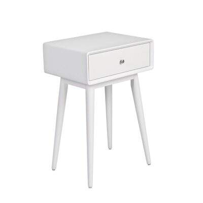 Rory End Table Color: French White