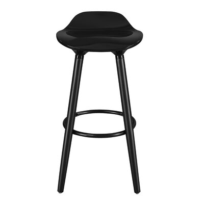 Caroline 29 Bar Stool Color: Noir Black