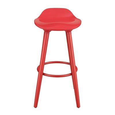 Caroline 29 Bar Stool Color: Red
