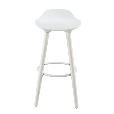 Caroline 29 Bar Stool Color: White