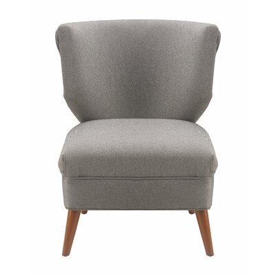 Amelie Slipper Chair Upholstery: Gray