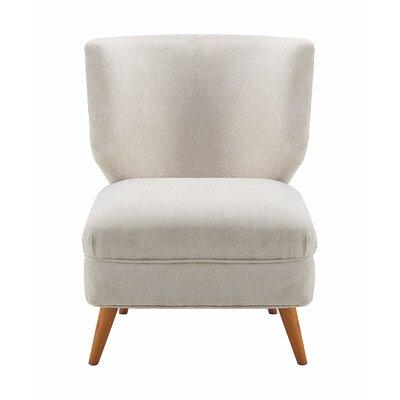 Amelie Slipper Chair Upholstery: Cream