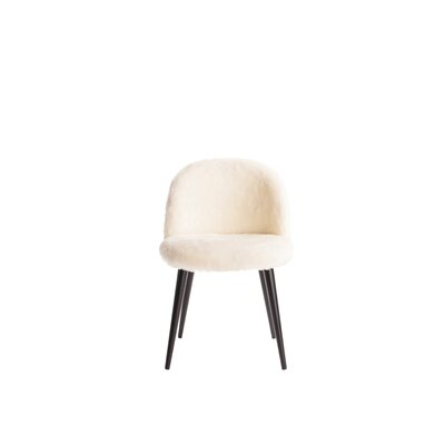 Cami Vanity Side Chair Upholstery: Cream