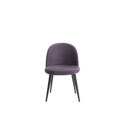 Cami Vanity Side Chair Upholstery: Violet