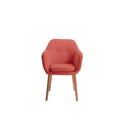 Roux Arm Chair Upholstery: Red