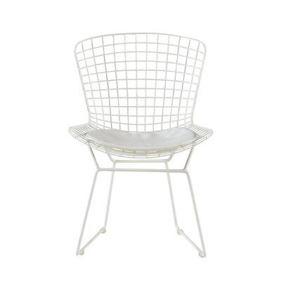 Holly Wire Dining Chair Color: White