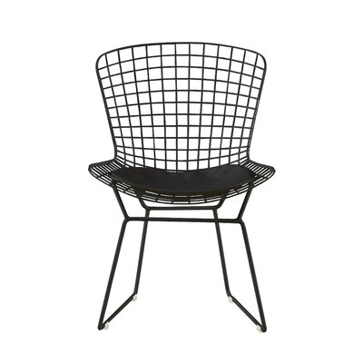 Holly Wire Dining Chair Color: Noir Black