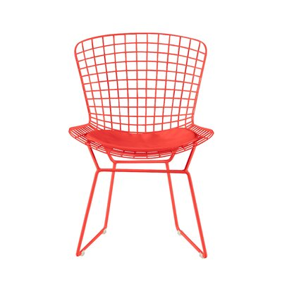 Holly Wire Dining Chair Color: Red
