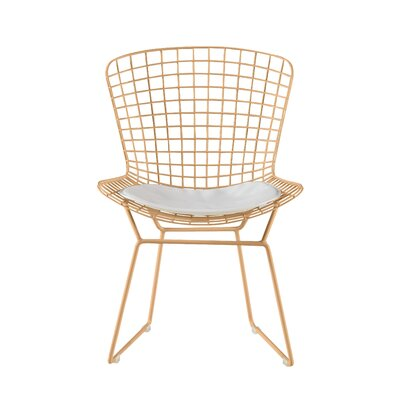 Holly Wire Dining Chair Color: Gold
