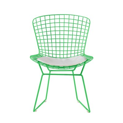 Holly Wire Dining Chair Color: Green