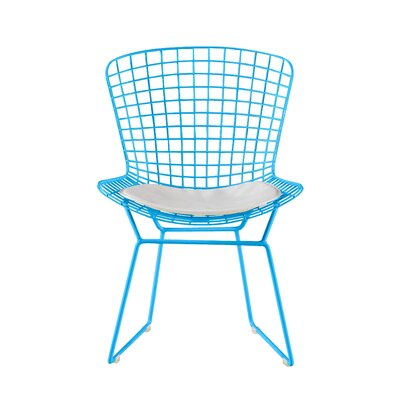 Holly Wire Dining Chair Color: Turquoise