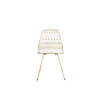 Vivi Metal Dining Chair Color: Gold